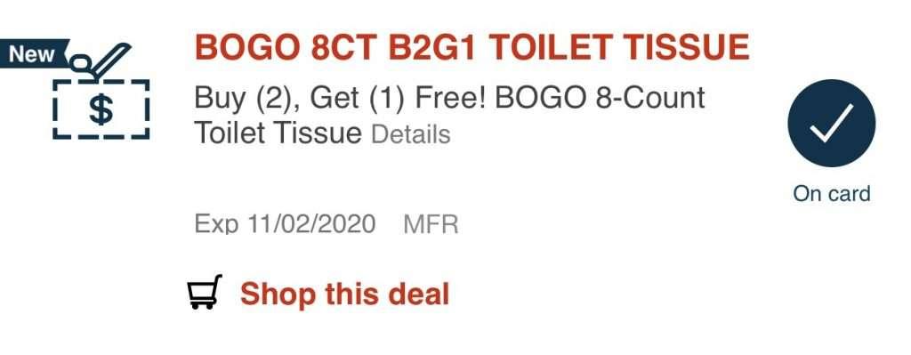 cvs toilet paper deal